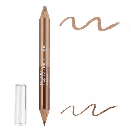 Duo ombretto & matita Bronze cuivré/Beige Doré bio