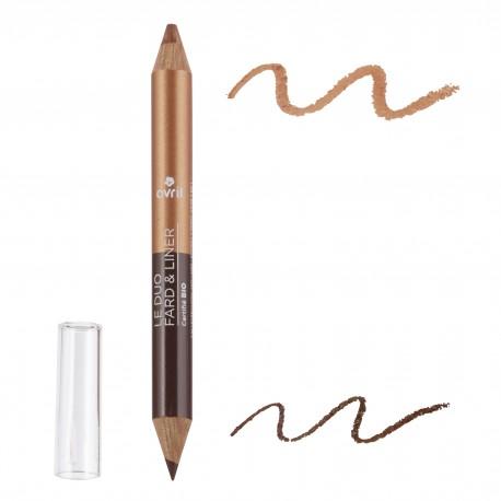 Duo ombretto & matita Terre Brûlée/Cuivre Irisé  Certificato bio