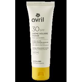 Crème solaire visage SPF 30  50 ml - Certifiée bio