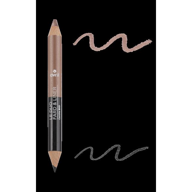 Duo ombretto & matita Noir charbon/Taupe nacré  Certificato bio