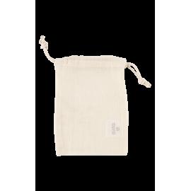 Pochette en coton bio écru 13 x 19 cm