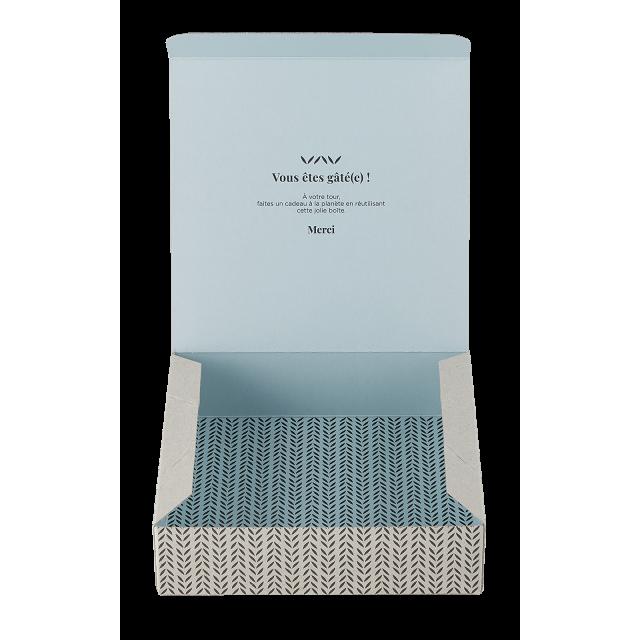 Piccolo cofanetto regalo - Feuillage bleu Avril